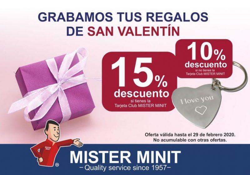 Graba tus regalos de San Valentín con Mister Minit.